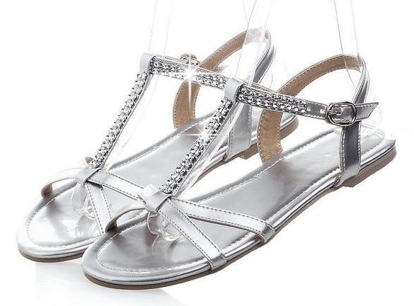 Silver Flats for Wedding - b
